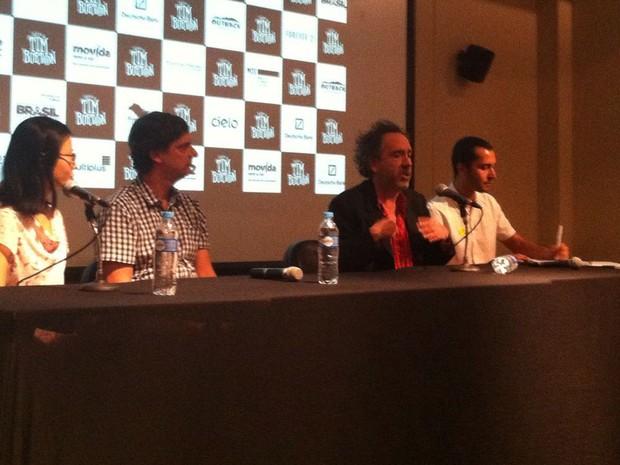 Tim Burton veio a São Paulo para promover a exposição sobre sua obra no MIS (Foto: Letícia Mendes/G1)