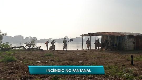 Incêndio atinge Pantanal de MS e Corumbá está encoberta por fumaça