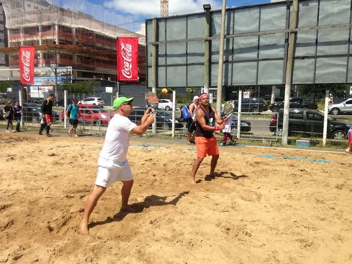 Jailson Paz e Jader Rocha no 2º RS Cup de beach tennis (Foto: Arquivo pessoal/Jailson Paz)