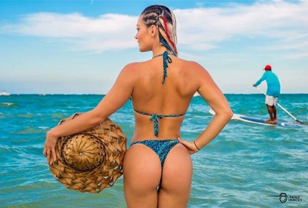 Laura Keller (Foto: Reprodução/Instagram/Paulo Fontes)