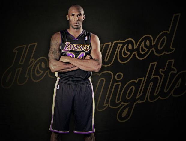 Kobe Bryant novo uniforme los angeles lakers (Foto: Divulgação/Lakers.com)