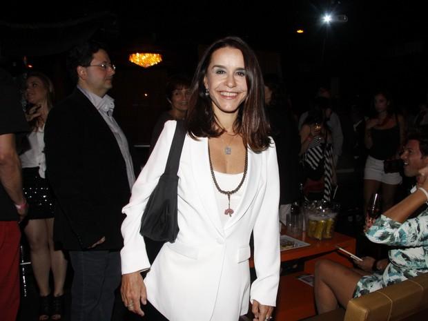 Lucélia Santos em lançamento de revista no Rio (Foto: Felipe Assumpção/ Ag. News)
