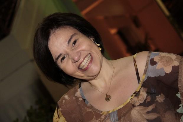 Cláudia Rodrigues em evento no Rio (Foto: Isac Luz/EGO)