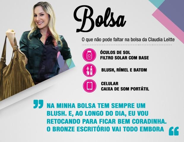 Dicas da Claudinha bolsa (Foto: TV Globo)
