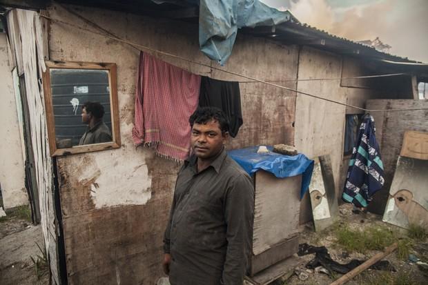 Vila para os trabalhadores de  Thilafushi apresenta condições precárias (Foto: Giulio Paletta)