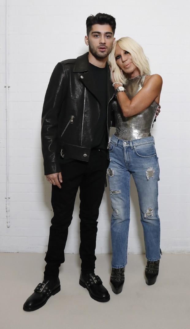 Zayn e Donatella Versace (Foto: Divulgação)