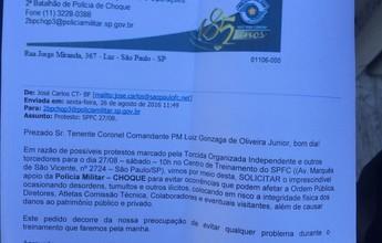 São Paulo notificará PM para investigar saída de Choque antes da invasão