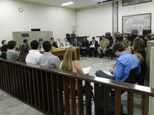 Reunião Eleições Uberlândia (Foto: Felipe Santos/G1)
