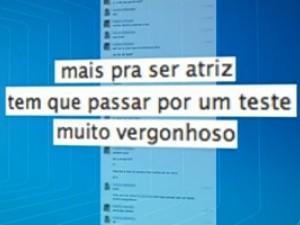 Suspeito se passa por atriz de 10 anos para convencer menina a fazer teste nu, Goiás (Foto: Reprodução/ TV Anhanguera)