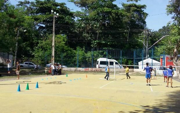 Criançada se divertiu em atividades paralelas (Foto: Katiúscia Monteiro/ Rede Amazônica)
