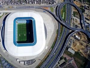 Arena do Grêmio vista de cima (Foto: Drone Service Brasil)