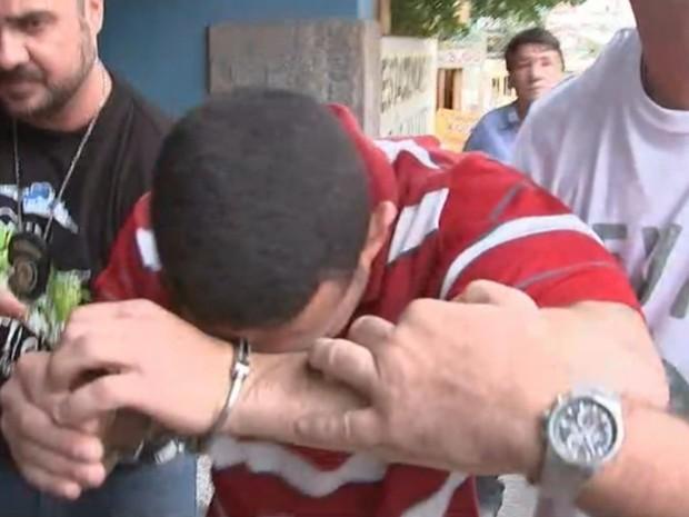 Segundo suspeito do crime foi preso na região (Foto: Reprodução/ TV TEM)