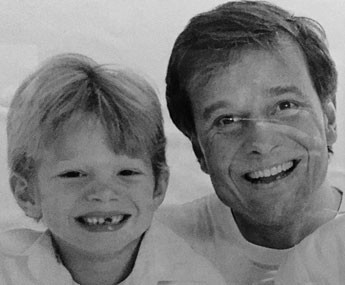 Marcello Novaes posa com o Pedro, ainda criança (Foto: Arquivo Pessoal)