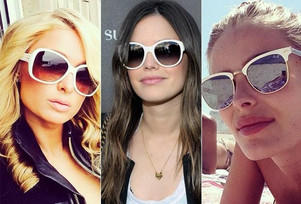 c359f6dcfe3aa Na onda das cores claras  inspire-se nas famosas e aposte nos óculos de.  Óculos De Sol Feminino Vogue VO2734s ...