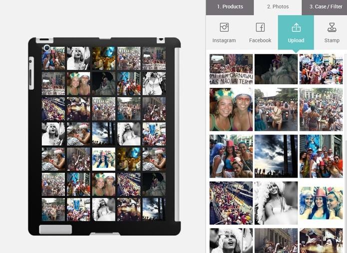 Capa para iPad 4 personalizada com fotos (Foto: Reprodução/Raquel Freire)