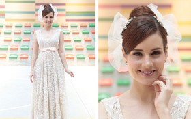 Vestido de noiva de Isabela foi feito de patchwork de rendas