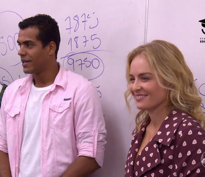 Marcello e Angélica (Foto: TV Globo)