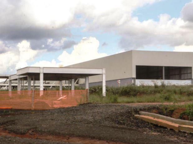 Fábrica da Randon em Araraquara tem obras interrompidas (Foto: Amanda Rocha/ Tribuna Araraquara)