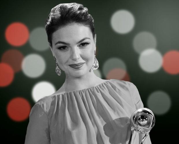 Congela a Suelen! Isis Valverde ganhou como atriz coadjuvante (Foto: Domingão do Faustão/ TV Globo)
