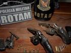 Três homens morrem após troca de tiros com equipe da Rotam, diz PM