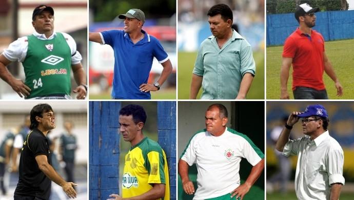 Técnicos da Segunda Divisão do Campeonato Paraense 2015 (Foto: GloboEsporte.com/Arquivo O Liberal)