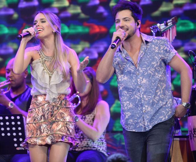 Thaeme e Thiago sonham em dividir palco com Roberto Carlos (Foto: Globo /Zé Paulo Cardeal )