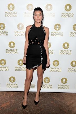 Kourtney Kardashian em evento em Los Angeles, nos Estados Unidos (Foto: Charley Gallay/ Getty Images/ AFP)