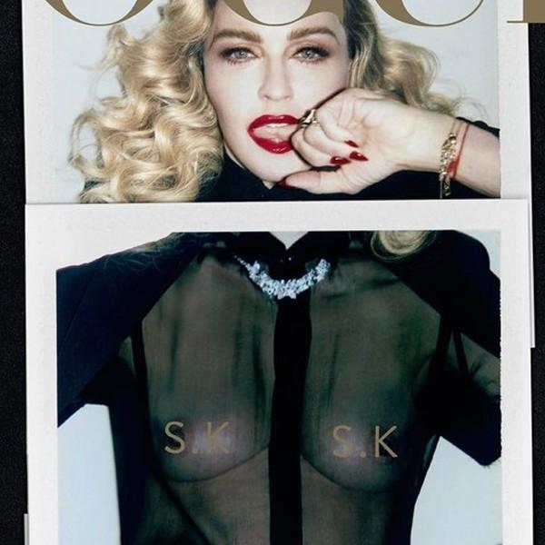 Madonna para Vogue Itália (Foto: Reprodução)