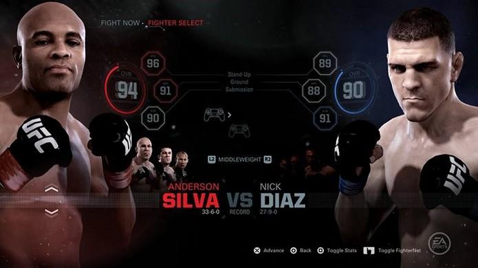 Luta entre Anderson e Nick também pode ser feita no game (Foto: Reprodução/Thiago Barros) (Foto: Luta entre Anderson e Nick também pode ser feita no game (Foto: Reprodução/Thiago Barros))