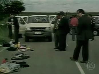 Servidores federais foram mortos em emboscada, em 2004 (Foto: Reprodução/TV Globo)