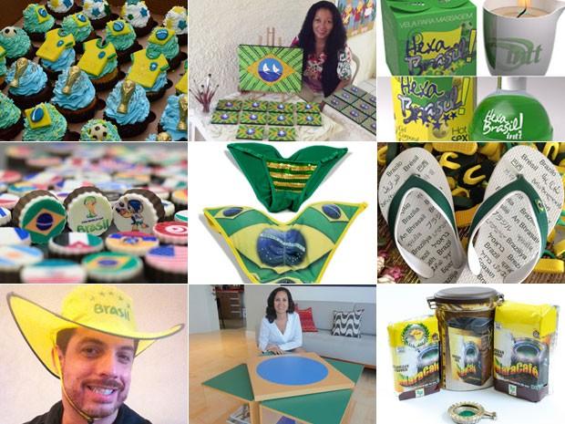 Empreendedores criam para a Copa (Foto: Montagem/G1)