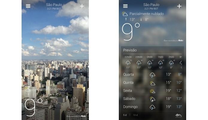 Yahoo! Tempo tem na interface seu ponto forte (Foto: Divulgação)