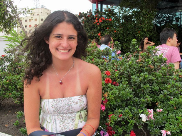 Gabriela Sarkis, de 18 anos, quer estudar farmácia na USP (Foto: Vanessa Fajardo/ G1)