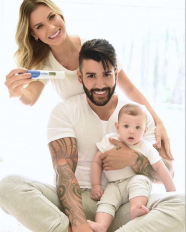 Andressa Suita e Gusttavo Lima anunciam gravidez de segundo filho (Foto: Reprodução/Instagram)