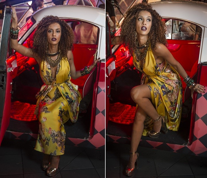 Michele arrasa com vestido (Foto: Renato Rocha Miranda / TV Globo)