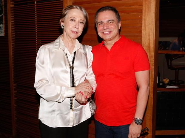 Fernanda Montenegro posou ao lado do autor Ricardo Linhares (Foto: Felipe Monteiro/Gshow)