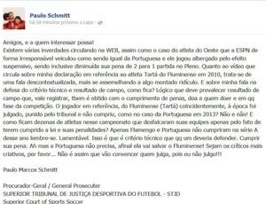Facebook Paulo Schimitt print (Foto: Reprodução / Facebook)
