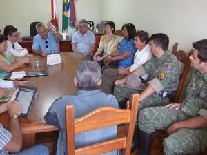 Reunião Saae Formiga, MG (Foto: Prefeitura/Divulgação)