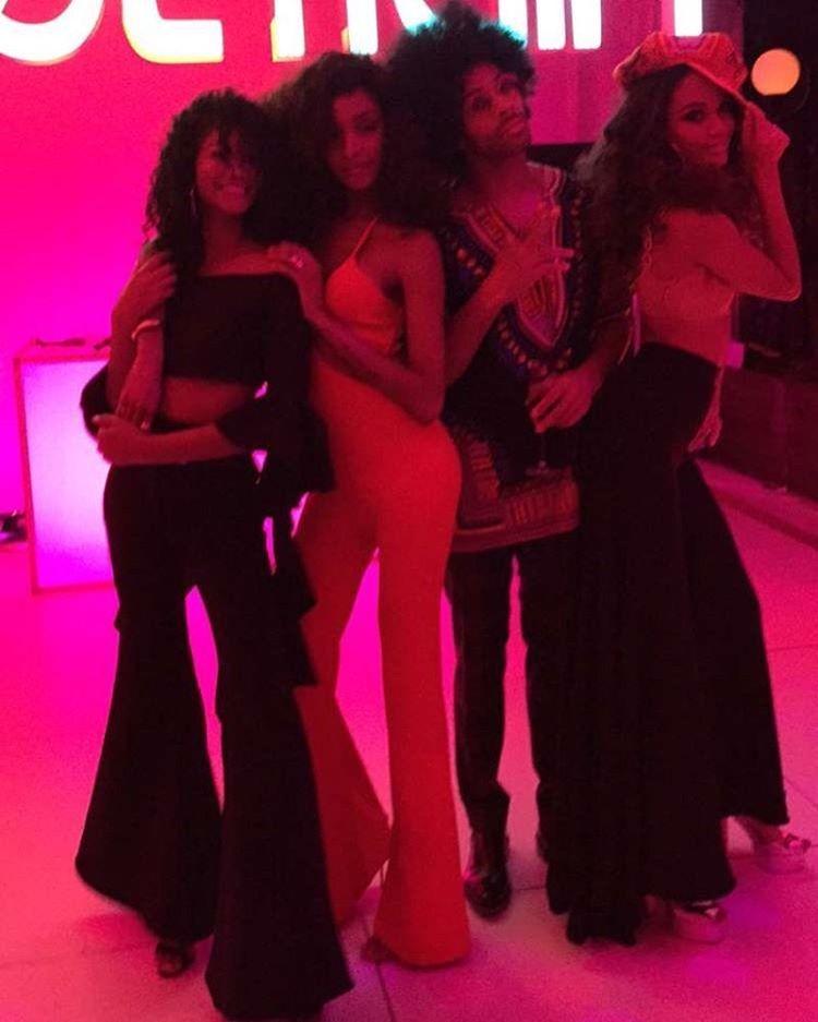 Chanel Iman, Jourdan Dunn, Sir John e Joan Smalls (Foto: Instagram/Reprodução)
