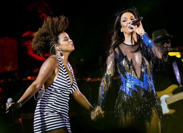 Jeniffer Nascimento e Ivete Sangalo (Foto: Manuela Scarpa/Brazil News)