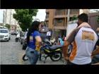 Funcionários de autoescolas fazem manifestação em Campos, no RJ