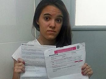 Marcela Pereira pensou que estava livre do enem (Foto: Marcela Pereira / Arquivo pessoal)