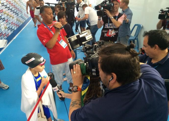 Alzain Tareq vira a sensação do Mundial e é alvo da imprensa (Foto: GloboEsporte.com)