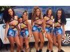 Meninas do Bonde das Maravilhas posam de shortinho antes de show