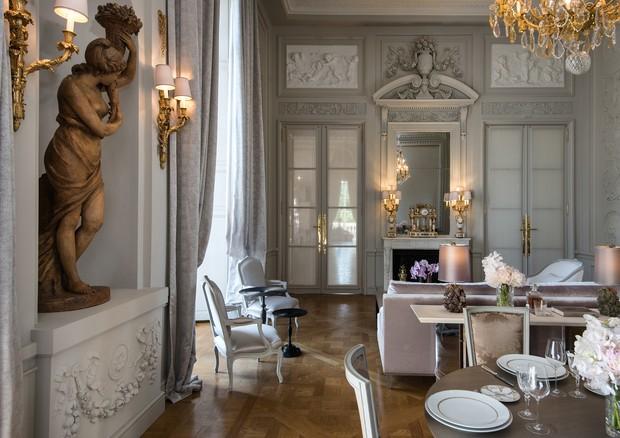 Salon Marie-Antoinette, no Hôtel de Crillon (Foto:  Divulgação)