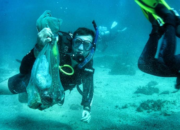 Max Fercondini mergulhou no arquipélago de Alcatrazes (Foto: Divulgação)