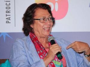 A literatura nos permite viver várias realidades, disse Ana Maria Machado (Foto: Egi Santana/Flica)