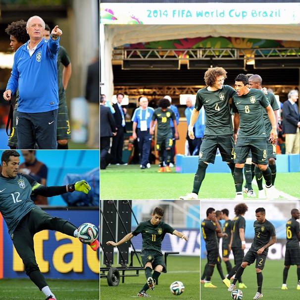Cenas do treino da Seleção na Arena Corinthians, em SP, na véspera da abertura da Copa (Foto: globoesporte.com)