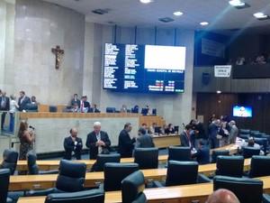 Vereadores no plenário da Câmara de São Paulo (Foto: Roney Domingos/G1)