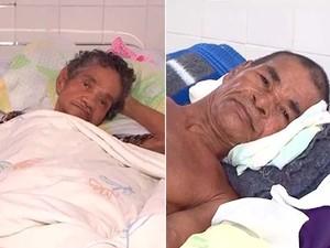 Idosos abandonados moram há quase 3 anos no Hospital de Base, em Itabuna, na Bahia (Foto: Imagens/ Tv Santa Cruz)